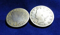 V NICKELS  1897 AND 1903