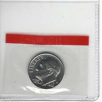 1989 D 10C ROOSEVELT DIME MINT SEALED IN CELLO