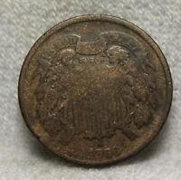U.S.COINS1866 TWO CENT