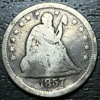 1857 O SEATED LIBERTY QUARTER      MAKE US AN OFFER  W3496 ZXCV