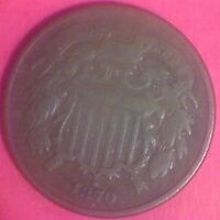 1870 F TWO CENT PIECE