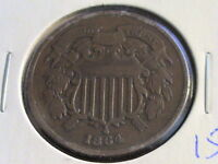 1864 TWO CENT PIECE  FIRST YEAR OF SERIES    CONDITION   ZWA1786