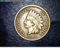 1862 COPPER NICKEL INDIAN HEAD CENT PENNY 765