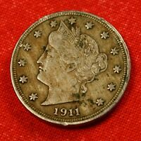 1911 LIBERTY V NICKEL EXTRA FINE  DARK  DATE BEAUTIFUL COLLECTOR COIN GIFT LN372