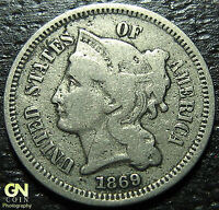 1869 3 CENT NICKEL PIECE      MAKE US AN OFFER  G3238