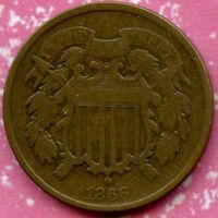1866 F 2C TWO CENT PIECE
