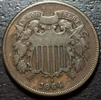 1864 2 TWO CENT PIECE      MAKE US AN OFFER  Y4141