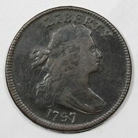 1797 S-121B R-3- REVERSE OF '96 EDS GRIPPED EDGE DRAPED BUST LARGE CENT COIN 1C