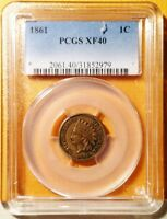1861 INDIAN CENT   PCGS XF40