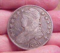 ORIGINAL NON DUG 1826 U.S. HALF DOLLAR FIFTY CENT PIECE