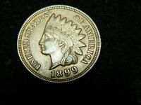 1899 INDIAN HEAD CENT FS 301  REPUNCHED DATE   HIGH GRADE COIN    COIN