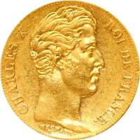 L2938  20 FRANCS OR GOLD CHARLES X 1830 W LILLE SUPERBE    FAIRE OFFRE