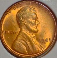 F1 1948D GOLD TONED WHEAT CENT..BU..GEM SALE 33 OFF HURRY