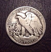 1937 50C WALKING LIBERTY HALF DOLLAR NICE CIRCULATED WALKER 656