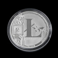 NEW SILVER PLATED LITECOIN COINS VIRES IN NUMERIS COMMEMORATIVE COIN COLLECTION