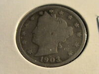 1903 LIBERTY NICKEL - CIRCULATED WITH FULL DATE AND RIMS   N1324  L117