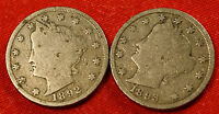 1892 1893 LIBERTY V NICKEL G  DATES COLLECTOR COIN  LN366