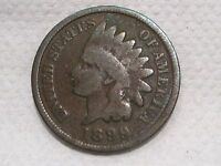 US 1899 INDIAN HEAD SMALL CENT / PENNY   G / GOOD