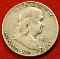 1951 S FRANKLIN  HALF DOLLAR AV CIRC BEAUTIFUL COIN CHECK OUT STORE  FH236