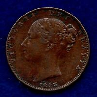 GREAT BRITAIN VICTORIA 1843 FARTHING REF. C5143