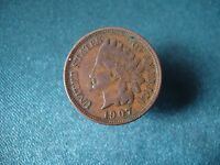 UNITED STATES OF AMERICA ONE CENT 1907. INDIAN CENT