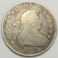 1807 DRAPED BUST HALF DOLLAR - FINE  PLEASE SEE PHOTOS MP570417