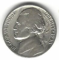 US 1943 P  SILVER JEFFERSON NICKEL NICE COINTAKE A LOOK