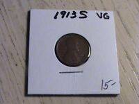 1913 S LINCOLN CENT -  ONE OF THE SEMI-KEY DATES  -  CONDITION  P551 L93