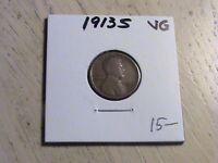 1913 S LINCOLN CENT -  ONE OF THE SEMI-KEY DATES  -  CONDITION  P555 L93