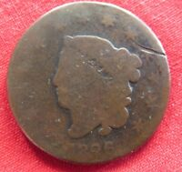 1826 LARGE CENT MATRON SCRATCHED 3166