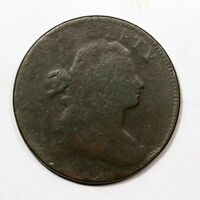 1797 S-141 R-4 DRAPED BUST LARGE CENT COIN 1C