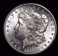 1887 S MORGAN SILVER DOLLAR UNCIRCULATED