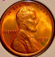 1930 S LINCOLN WHEAT CENT..BRIGHT TONED BU RD..GEM SALE35OFF REDUCED5/23 D5