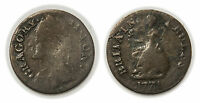 FARTHING EVASION TOKEN 1771   ATKINS 487   GRAGORY II PON BRITAIN RULES