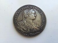 COIN 1 ROUBLE 1766 SPB CATHERINE II. RUSSIA.LY