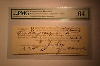 CONNECTICUT INTEREST PAYMENT CERTIFICATE 2 3S 10D 1790 PMG CHOICE UNCIRCULATED