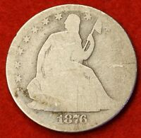 1876 P SEATED LIBERTY HALF DOLLAR AG BEAUTIFUL COIN CHK OUT STORE   $ SH33