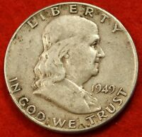1949 P FRANKLIN  HALF DOLLAR AV CIRC BEAUTIFUL COIN CHECK OUT STORE  FH223