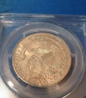 1833 50C CAPPED BUST HALF DOLLAR   PCGS AU58 REAL BEAUTIFUL DETAILS GRT SURFACES