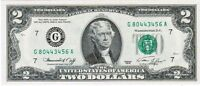 1976 SERIES $2 FEDERAL RESERVE NOTE CHICAGO FR 1935 G CH UNC G70443456A