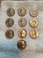 1776 1976 D/P BICENTENNIAL WASHINGTON QUARTERS 20 COIN LOT CIRCULATED