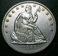 1869 P SEATED LIBERTY HALF DOLLAR      MAKE US AN OFFER W4070 ZXCV