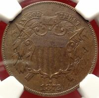 1872 2C NGC EXTRA FINE  DETAILS KEY DATE TWO CENT PIECE