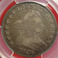 1806 50C PCGS VF35 POINTED 6 STEM VARIETY A GREAT EARLY HALF DOLLAR TYPE COIN