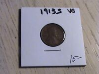1913 S LINCOLN CENT -  ONE OF THE SEMI-KEY DATES  -  CONDITION  P553 L93