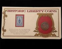 1854 ARROWS SEATED HALF DOLLAR 50C HISTORIC LIBERTY COINS W/ 3 CENT STAMP D333D
