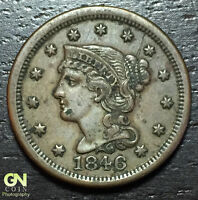 1846 CORONET HEAD LARGE CENT     MAKE US AN OFFER  W4386 ZXCV
