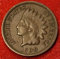 1908 S INDIAN HEAD CENT PENNY VF COLLECTOR COIN CHECK OUT STORE IH758