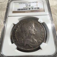 1676   UK SILVER CROWN   NGC VF 30   NICE COIN