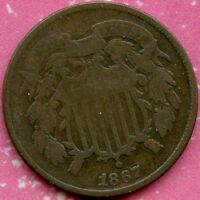 1867 VG 2C TWO CENT PIECE